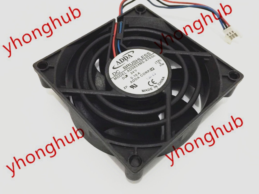 1PC ADDA 8025 AD0812HX-A70GL DC12V 0.25A 80*25MM 2-wire chassis cooling fan