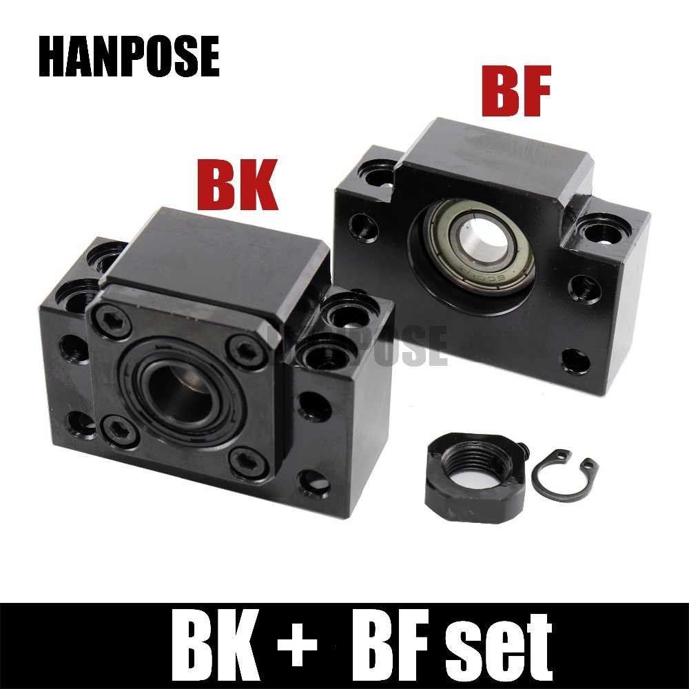 Free shipping BK BF Set one pc of BK12/10/15/20 and one pc BF12 for RM1204 SFU1605 sfu2005 Ball Screw End Support for CNC parts стоимость