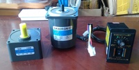 AC Motor 40W 220V 50hz 51k40rgn c induction motor gearhead gear box ratio 10:1 regulator speed controller out shaft 12mm