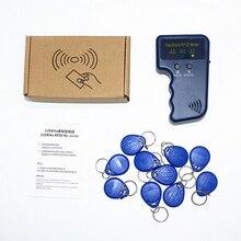 Ручной пробойник времени и посещаемости 125 кГц RFID ID карта копир писатель Дубликатор Программист считыватель код записываемый EM4305 ID брелок