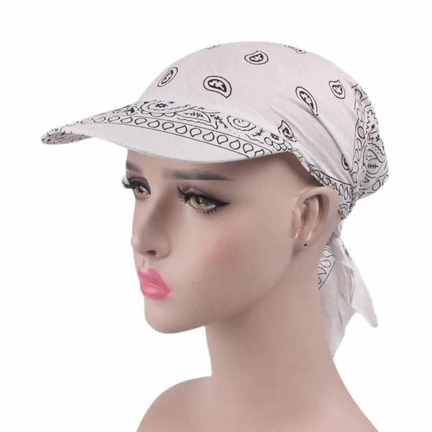 Kadın Hindistan Müslüman Retro Çiçek pamuk havlu Kap Ağız Türban beyzbol şapkası Wrap yaz güneş şapkaları kadınlar için hasır şapka yaz şapka