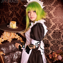 VOCALOID Bad End Night Gumi Cosplay Costume Maidness Dress Outfit Dress+Apron+Headdress+Wristband+Bow Custom-made