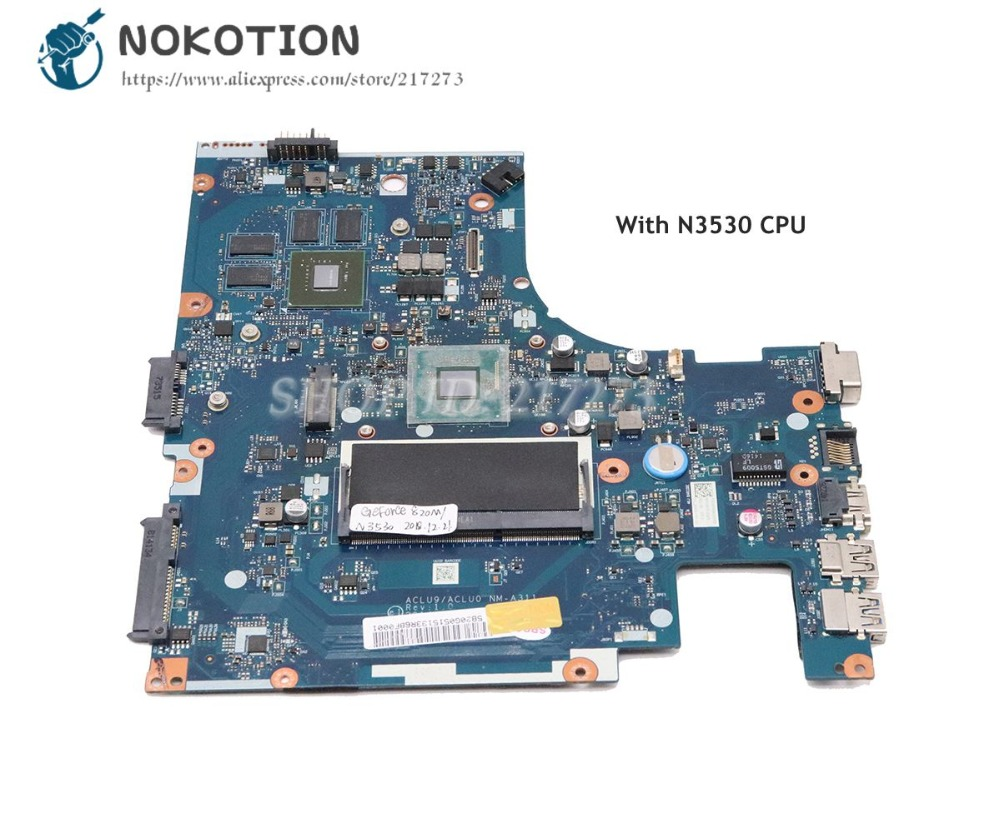 NOKOTION For Lenovo ideapad G40-30 Laptop Motherboard 14 inch SR1W2 N3530 CPU 820M 1GB ACLU09 ACLU0 NM-A311 5B20G05120NOKOTION For Lenovo ideapad G40-30 Laptop Motherboard 14 inch SR1W2 N3530 CPU 820M 1GB ACLU09 ACLU0 NM-A311 5B20G05120