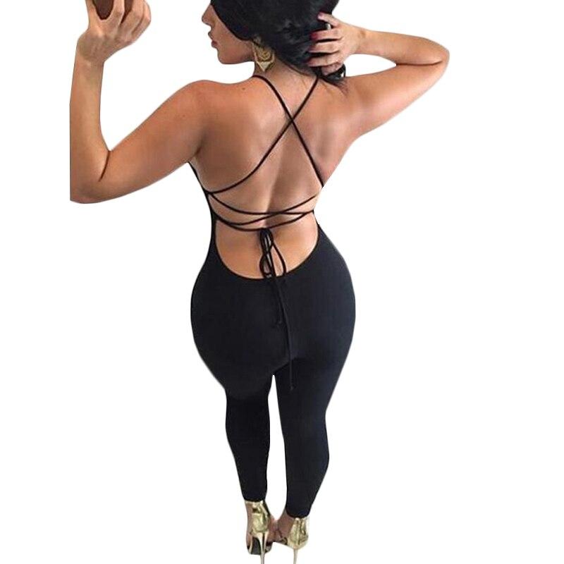 Сексуальная спинки боди черные узкие бахрома комбинезон женские летние вечерние Комбинезоны