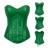 2016 Nuevas mujeres Sexy laca Verde Overbust Corsé Bustiers de corsé corsés de la Ropa Interior de Cuero de Imitación Gótica Clubwear Top S-2XL