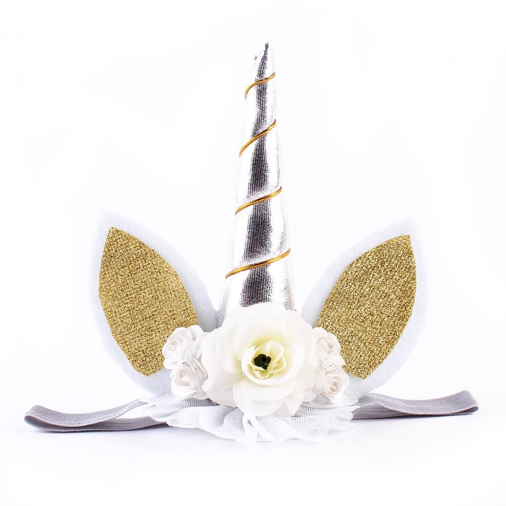 Unicorn flower crown headband c80595034cc