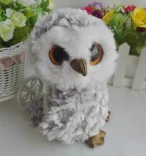 Soft TY Stuffed Plush Animals Baby Toy Cut Big Eyes Gray Owl  Doll Toys  Gifts newest