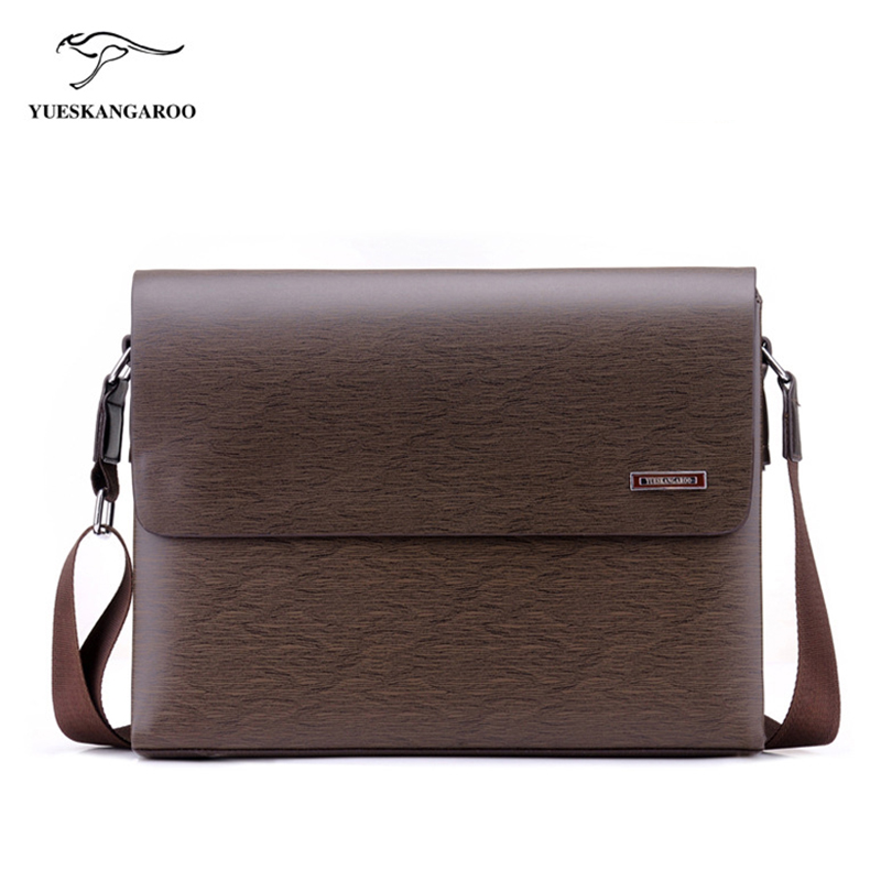 YUES KANGAROO 2017 New Leather Bags Men High Quality Messenger Bags Small Travel Black Brown Crossbody Shoulder Bag For Men men bag 2017 new high quality canvas men messenger bags oxford famous brand mens small shoulder bag black travel crossbody bags