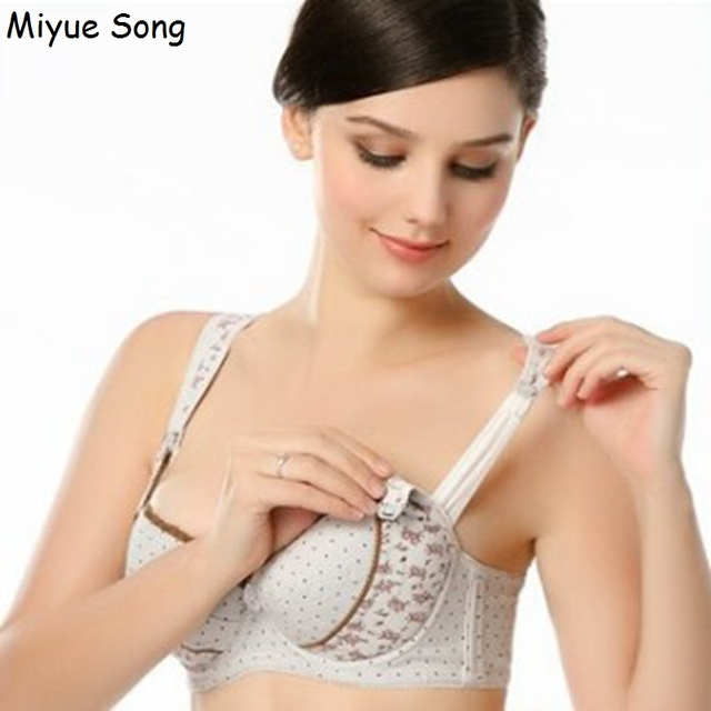 30634272039f Nursing Bras Lace Open Button Breast Feeding Lingerie Pregnant Women  Gestante Clothes Plus Size A B C D E Maternity Underwear free shipping  worldwide
