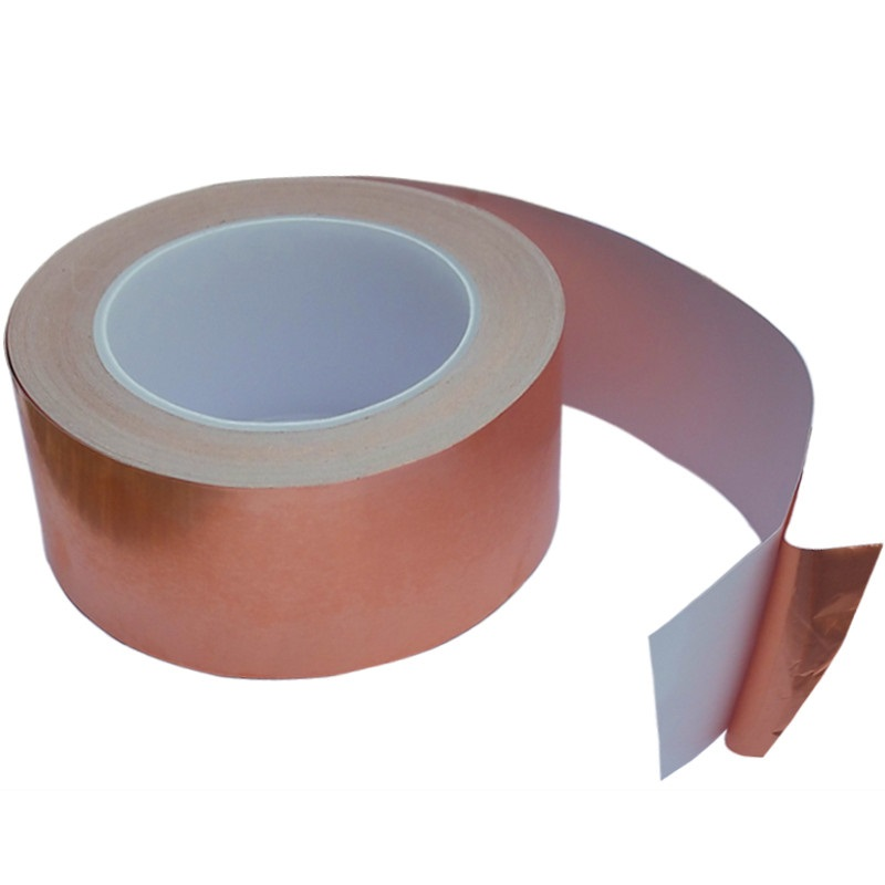 10MM X 30M Adhesive Single Face Electric Conduction Copper Foil Tape EMI Shielding and Snail Barrier Conductive Masking Tape hot sale new 2 roll 5mm x 30m single conductive copper foil tape adhesive