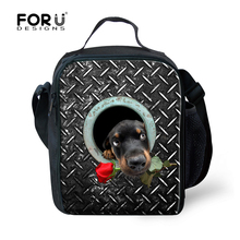 Trendy Animal Print Lunch Bags For Teenagers Cute Pet Dogs Insulated Storage Children Lancheira Kids Daily Travel Bolsa Termica