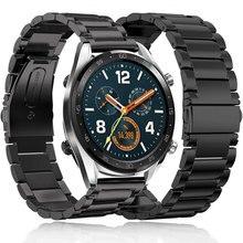 22 мм металлический ремешок для huawei часы GT Смарт ремешок для наручных часов из нержавеющей спортивный ремешок сменный Браслет для samsung Шестерни S3