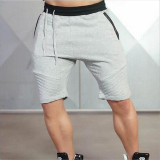new arrival  Mens tight bodybuilding camouflage shorts workout Gym running shorts 6 colors 3