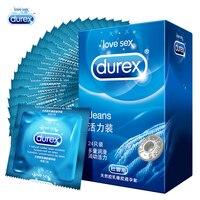 Презервативы Durex джинсы 24 шт. прямые стенки дополнительные презервативы со смазкой для мужчин натуральный латекс секс-игрушки товары оптом