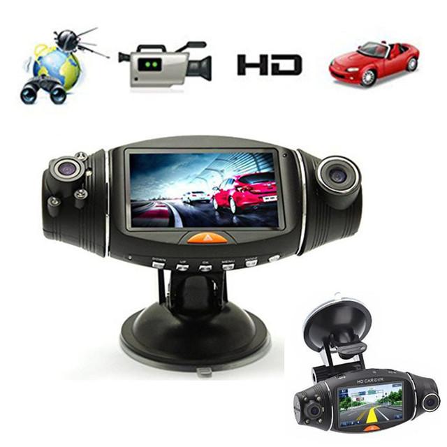 """Detalhes sobre 2.7 """"Câmera de Vídeo Do Painel Do Veículo de Lente Dupla Cam Vid Auto Espelhos Retrovisores Do Carro DVR Gravador de Vídeo Da Câmera"""