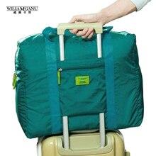 Wiliamganu дорожный футляр багажа свободный складные корабль унисекс путешествия женские цвета