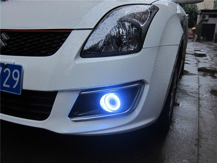 СИД DRL дневного света cob глаза ангела, объектив проектора противотуманная фара с крышкой для Suzuki Стрижи 2013, 2 шт