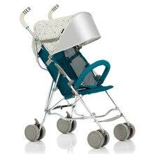 Quick Folding Small Portable Baby Stroller Folding Umbrella Wheelchair Baby Carriage Travel System Car Baby Trolley Pram 0~3Y