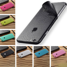 Leather Film For iPhone 6 7 8 Plus X Phone Back Case Change Color Full Coverage Bumper Cover Coque Protective Ultra Thin Sticker ultra thin protective abs bumper frame for iphone 5 green