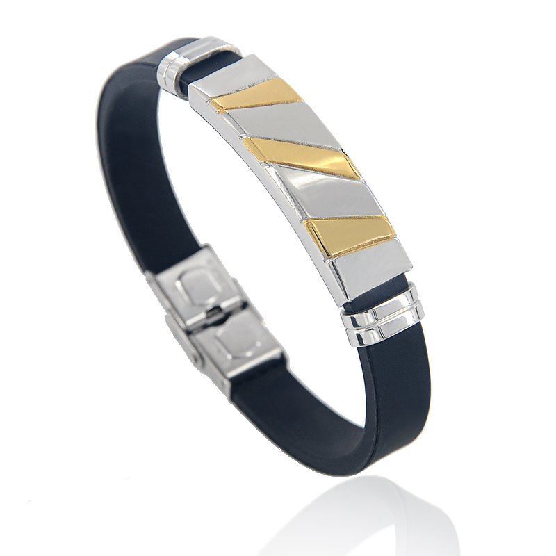 Top Quality Gold Color Stainless Steel Bangle Bracelet Sample Design Men Fashion Silicone Bracelets Jewelry Z 428 In Charm From