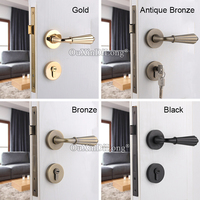 Mejor Cerradura de puerta europea de alta calidad juego de cerradura de cobre para puerta Interior cerradura