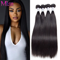 Peruvian Virgin Hair Extension 4 Bundles Straight Hair Weave Unprocessed Human hair Bundle Mi Lisa Peruvian Straight Virgin Hair