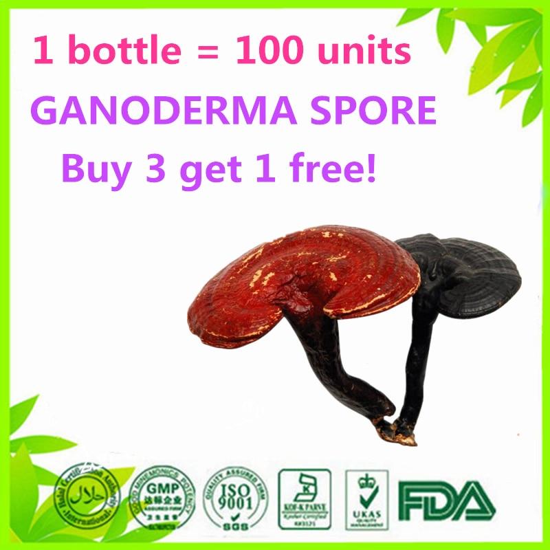 1 bottle = 100 units GANODERMA LUCIDUM LINGZHI REISHI SPORE (Buy 3 get 1 free) 500mg 100softgels bag 500 1 duan wood ganoderma lucidum reishi spore extract oil softgels triterpene30%