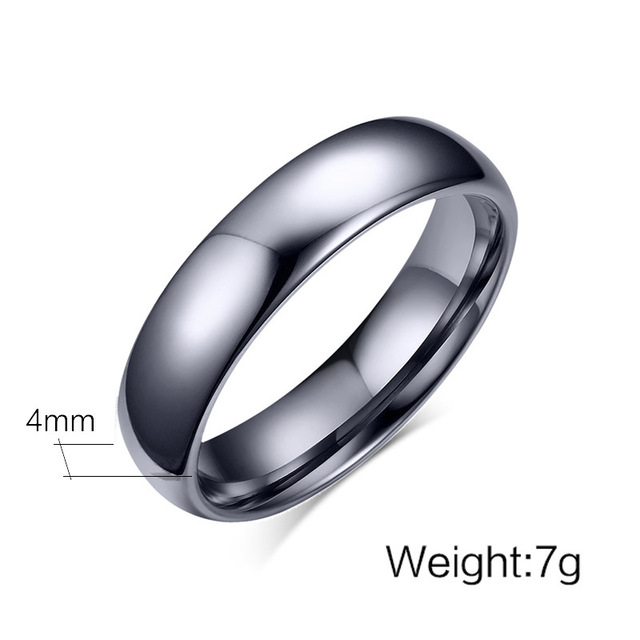 Купить высококачественные простые кольца из вольфрамовой стали серебряного картинки