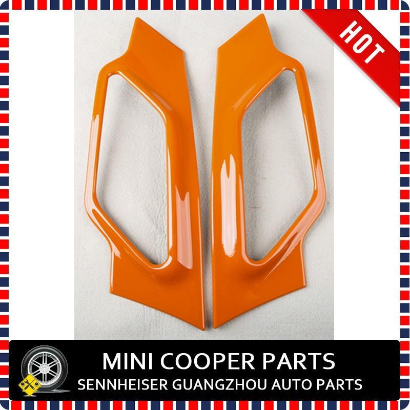 Материал ABS Защитой От Ультрафиолетового Излучения Чистый Оранжевый Цвет Мини Рэй Стиль Стороны Крышка лампы Для R60 mini cooper Countryman S Только(2 Шт./компл