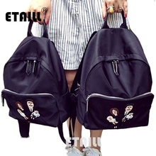 2016 супер высокое качество Водонепроницаемый нейлоновый рюкзак для ноутбука женская сумка для ноутбука черный сумки для девочек-подростков Mochila Feminina