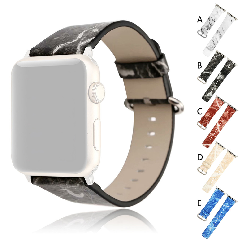 Watch Smartwatch-Band-Accessories Wrist-Strap-Band Replacement for Apple 4 40mm Marbling