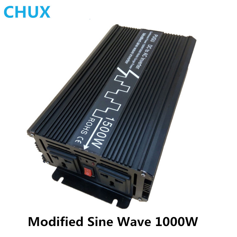 1000W Modified Sine Wave Inverter Surge Power 2000W Off grid DC 12V 24V to AC 110V 220V Smart Series Solar Power Inverter whm1000 242 smart 1000w 24v dc to ac 220v 230v 50hz modified sine wave solar power inverter