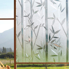 Funlife 3D Window Films Privacy Sticker Static Decorative Bamboo Film Non-Adhesive Heat Control Anti UV Glass