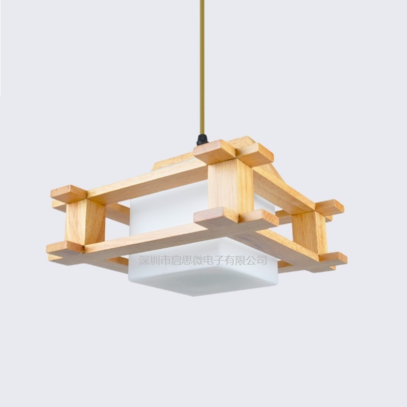 Modern Wood pendant lights glass lamp for dinning room living room lampadario moderno Lustre pendants Lighting AC85-265V moderno 3033 6pl white glass luce solara 1142985