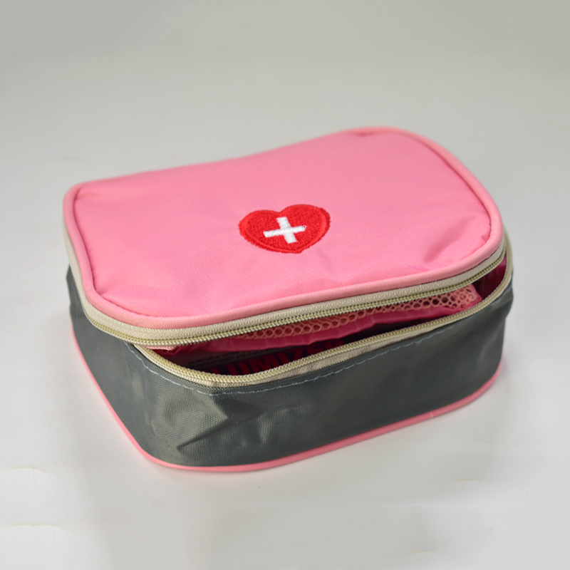 DSC_0025  Emergency Kits 13*10*4cm Mini Moveable Drugs Storage Bag First Support Medical Kits Organizer Out of doors Family Bag Pink Gray HTB1bbnheL6H8KJjSspmq6z2WXXaN