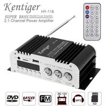 2.1CH Super Bass HI-FI Car Audio High Power Amplifier FM Radio Player SD USB DVD MP3  with Remote Controller for Car Motorcycle