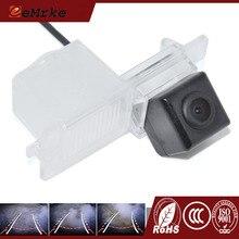 EEMRKE Para Ssangyong Kyron Actyon Korando Rexton CCD HD Retrovisor Do Carro Da Câmera Com Faixas Invertendo Trajetória de Orientação