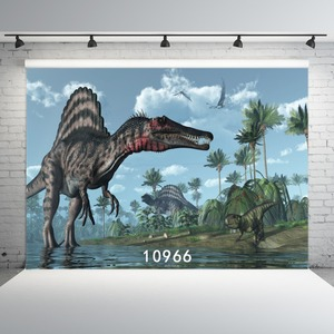 Image 2 - Dinosaur Photographic Backgrounds Vinyl Cloth Backdrops Photocall for Children for Photo Studios Photobooth Party Wall