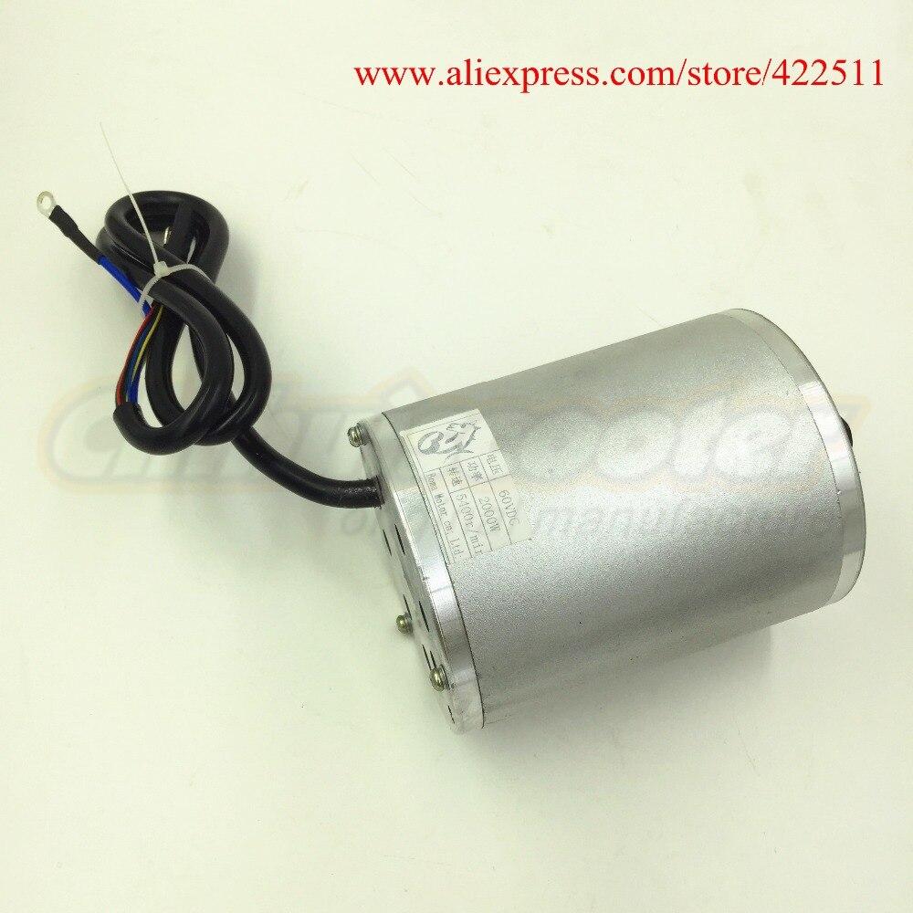 Купить с кэшбэком New 2000W 60V Brushless DC Motor Electric Scooter BLDC Motor 2000W 60V Electric Motor ( Electric Scooter Spare Parts)