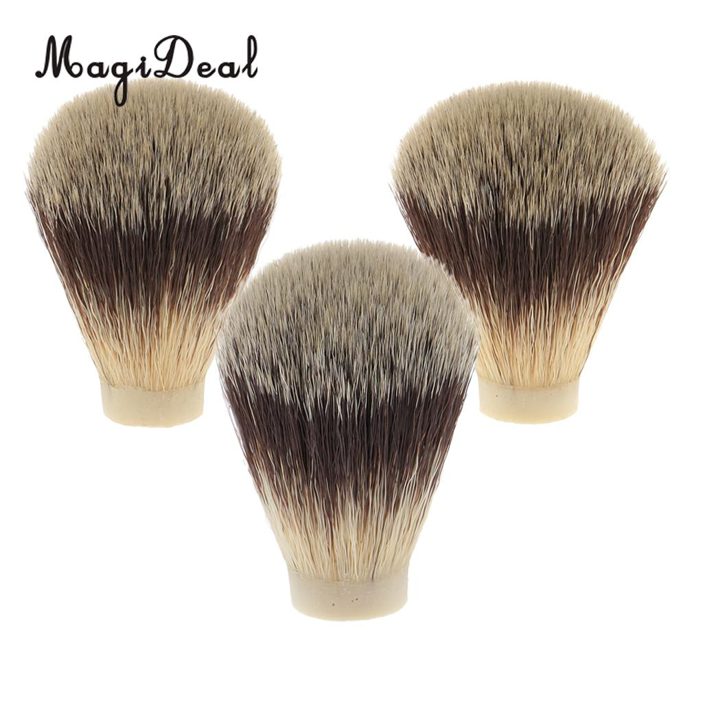 MagiDeal Nylon Shaving Brush Knot for Men Salon Hair Ramoval Cutting Dust Men Facial Beard Cleaning Appliance