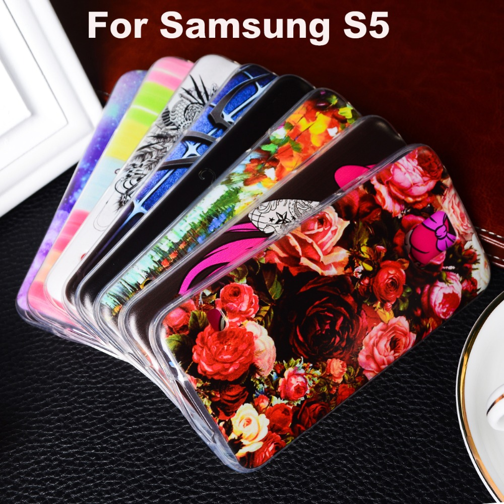 3526ded7a8626 AKABEILA Soft TPU Plastic Case For Samsung Galaxy S5 G900F G900I G900M  G900A G900T G900W8 G900K G900L G900S SV Phone Cover Shell