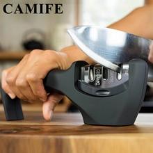 Точилка для кухонных ножей из нержавеющей стали 3 ступеней с алмазным покрытием инструмент для заточки ножей помогает восстанавливать и полировать лезвия
