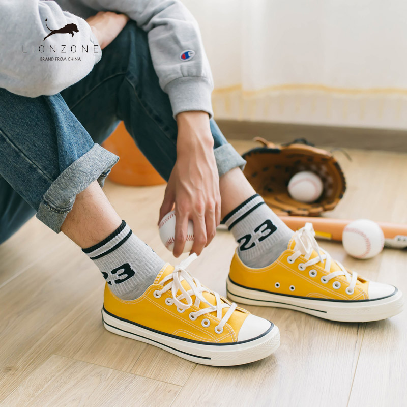 5Pairs/Lot Japanese Korean Harajuku Men Ankle Socks Street Fashion Cotton Socks Stripes Casual Man Brand Sox Gifts For Men ...