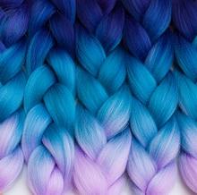 ELEGANTNE GLASBE 2 3 4 Tone Ombre Kanekalon pletenice za podaljševanje las 24-palčne sintetične Jumbo pletenice kvačkanje zavite lase 100g / kos