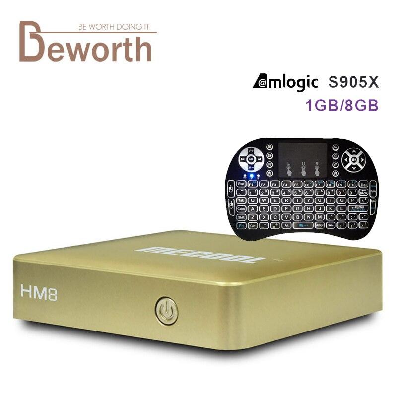 Mecool HM8 S905X Android 6.0 TV Box Amlogic Quad Core 64Bit 1G/8G 2.4 GHZ Wifi V