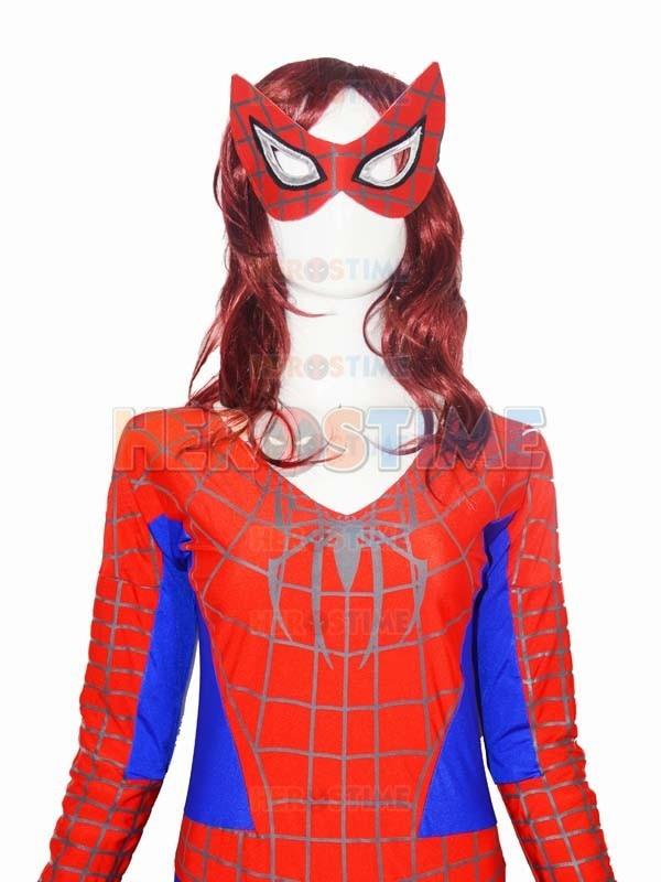 Qadın versiyası Aşağı Boyunlu Hörümçək Kostyum Spandex - Karnaval kostyumlar - Fotoqrafiya 3