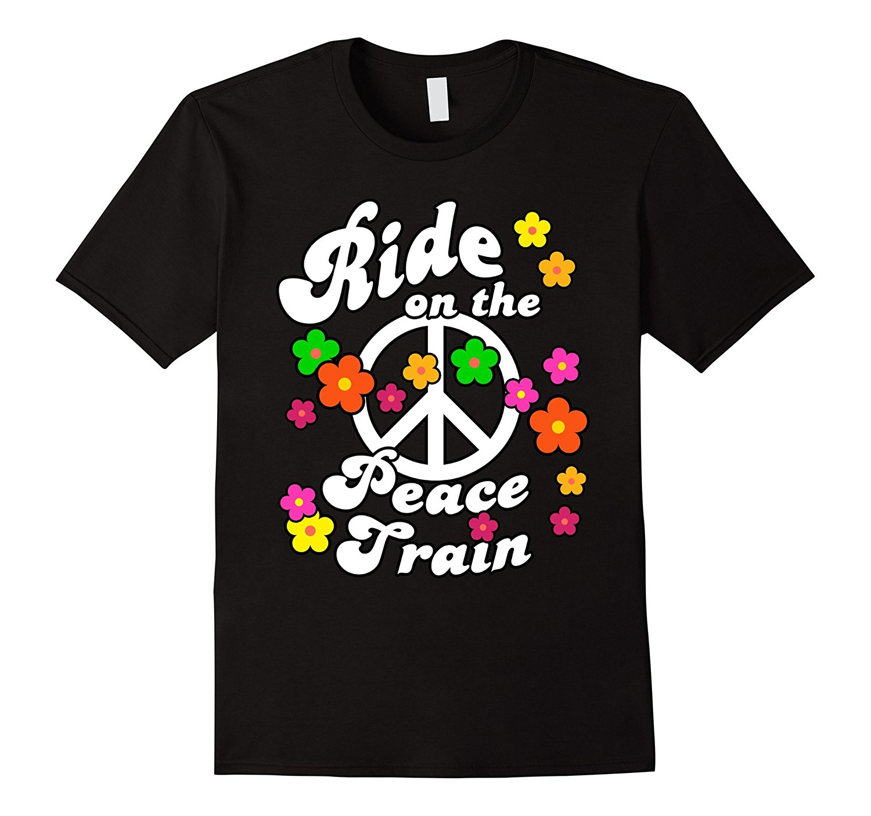 Мир поезд цветок Мощность футболки для хиппи и мир Любители летом Изделие из хлопка с короткими рукавами игра рубашка футболка модные класс...