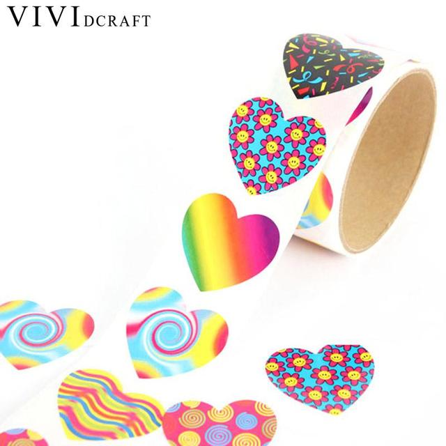 Vividcraft kawaii stationery items 100 pcs lot 3 8cm custom stickers scrapbook supplies fun express