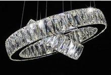 Phube Iluminación LED Anillo de Luz Lámpara Moderna Lustre Araña de Cristal de Luz Montado 5.5 cm Cristal K9 + Envío Libre!