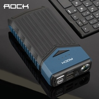 Emergency Battery Charger Car Jump Power Bank Starter 10000mAh ROCK Multi Function Car Emergency Start Powerbank